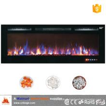 110V / 220V Réchauffeur de foyer électrique à fausse flamme de 60 po / encastré