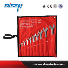 10PCS Matt Finish Open End Wrench Tool Set