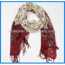 Écharpe en laine de Merino imprimée Femmes