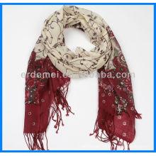 Printed Merino Wool Scarf Women