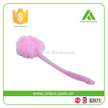 bath sponge mesh bath brush long handle back brush
