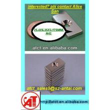 Imán con agujero de tornillo/imanes para gabinete puertas industriales imanes