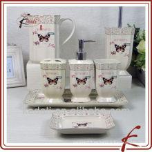 Conjunto de baño de cerámica de mariposa