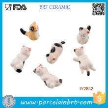 Niedliche kleine Katzen in verschiedenen Formen Keramik-Essstäbchenhalter