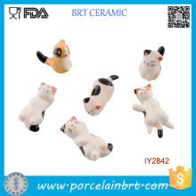 Petits chats mignons dans différentes formes Céramique repose-baguettes