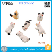 Cute Little Cats in Different Shapes Ceramic Chopstick Rest