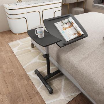 Table de lit pivotante et inclinable avec roues