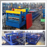 Top quality 800 archaized aluminum corrugated glazed tile roll forming machine