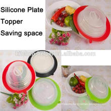 Hot selling highly welcomed silicone suction plate topper lid