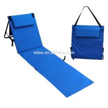 Один человек складной пляжный коврик с подушкой