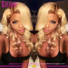 100% brazilian human hair honey blonde human hair full lace wig