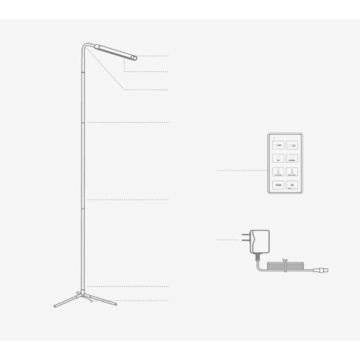 Lampadaire intelligent Wifi touch