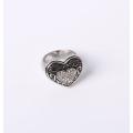 Hören Sie Entwurfs-Art- und Weiseschmucksache-Ring mit Rhinestones