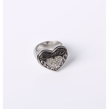 Hear Design Fashion Jewelry Ring avec strass