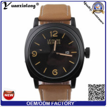 Yxl-692 Fashion Leather Strap Clocks Japan Movement Curren Watch for Men
