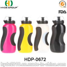 2017 neue Produkte BPA FREI Kunststoff Sportflasche mit Stroh, PE Kunststoff Sport Wasserflasche (HDP-0672)
