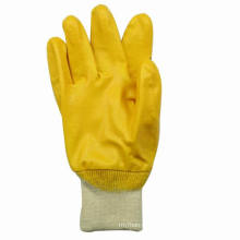 Yellow Nitrile Cotton Jersey Glove