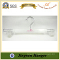 Transparent White Color Adjustable Clothes Hanger of Plastic