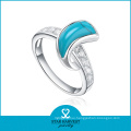 Fashionable Semi-Precious High Quality Jewelry Turquiose Rings (R-0303)