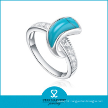 Fashionable Semi-Precious High Quality Jewelry Turquiose Rings (R-0303)