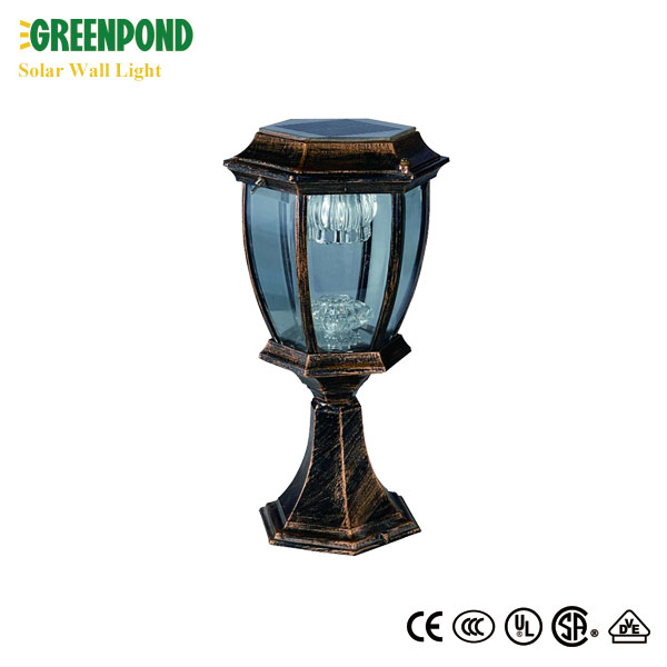 Popular Decorative LED Solar Panel Wall Light