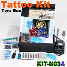 Kit de máquina de tatuagem profissional barata nova completa com 2 arma