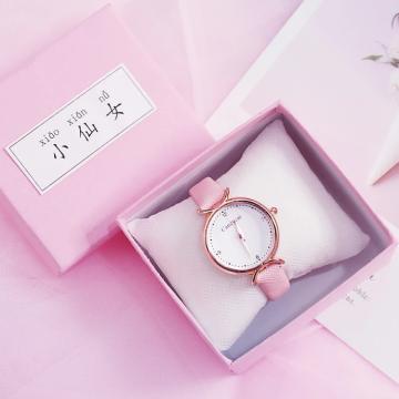 Розовая роскошная коробка для часов Square Elegant Girls