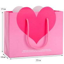Personalize sacos de compra de papel baratos de alta qualidade atualizados com sua cópia do logotipo