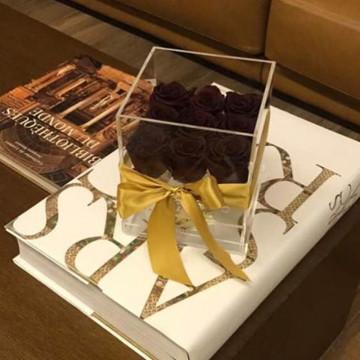Erste Hand-Luxus-Blumen-Box mit klarem Acryl-Material