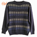 European Style Plaid Jacquard Knitting Pattern Sweater