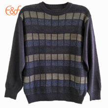 European Style Plaid Jacquard Knitting Pattern Sweater