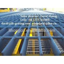 Rejilla galvanizada de la plataforma, reja de acero galvanizada de la plataforma, rejilla galvanizada del acero de la calzada