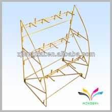 Floor standing retail metal yellow hardware tool display stand