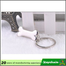 Supermarket Shopping Metal Bone Keychain