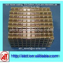 Productores de imán de la capa de níquel de D8.2x8