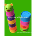 Round stacked cup building blocks set