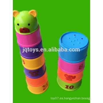 Bloques de construcción apilados redondos de la taza fijados