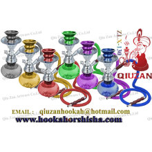 Coloured Glass Mini Hookah With Plastic Shisha Hose