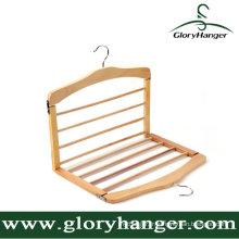 Support de cintres pliables multifonctionnels en bois de cintres / toursers