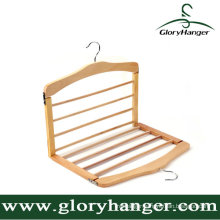 Multifunction Collapsible Wooden Toursers Hanger/Toursers Rack