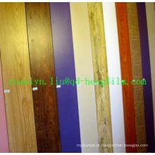 Filme rígido decorativo em PVC de alto brilho para laminação de teto, portas, piso, borda, foto