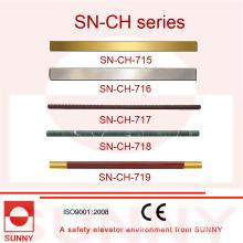 Main courante de cabine d'ascenseur avec le type différent de forme (SN-CH-715)