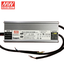 Original MEANWELL 16W to 600W 320W 2100ma dimmable led driver HLG-320H-C2100B