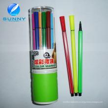 Pluma de extremidad de fieltro multi modificada para requisitos particulares del rotulador del color de agua para la promoción