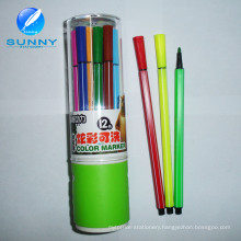 Customized Multi Water Color Marker Pen Felt Tip Pen for Promotion