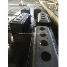 Línea de olla de aluminio utilizada Ánodo de carbono precocido
