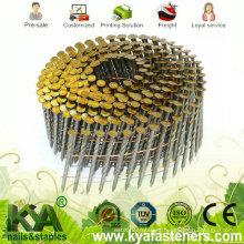Clavos galvanizados de la bobina del grado de 15 grados