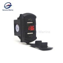 Marine Boat Caravan 12V LED Light DC Socket waterproof USB volotmeter Socket