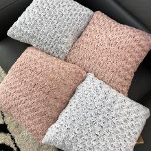 Almohada de piel de cojín suave de color puro