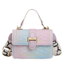 2021 New in Stock Girls Small Square Shoulder Bag Rainbow Colorful Fashion Women Crossbody Bag Handbags